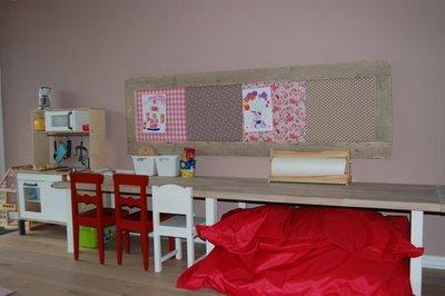 Prikbord met steigerhout XL