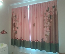 Hippe handgemaakte gordijnen Bosrijk effen licht roze