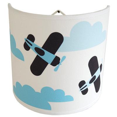 Wandlampje Wolken en Vliegtuig