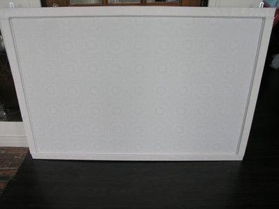 Prikbord bekleed met kanten zeil