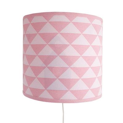 Wandlampje driehoek roze met vogelhuisje