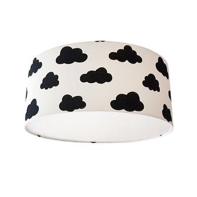 Plafond lamp Wolken zwart op wit