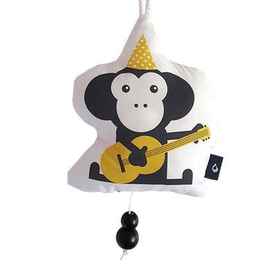 Muziekhanger Feestbeesten Aap geel