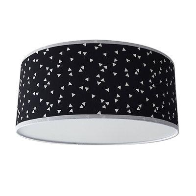 Plafond lamp Triangle zwart