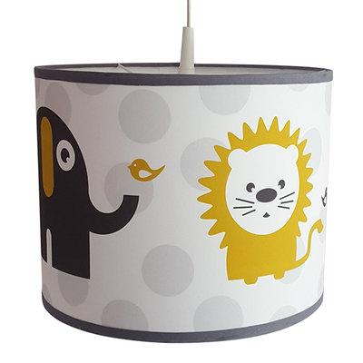 lamp leeuw & olifant oker/stip