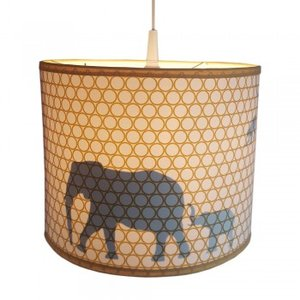 Lamp jungle silhout oker