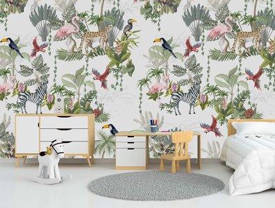 behang jungle tropisch custom made