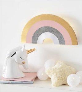 Regenboog wandlamp + timer