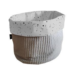 commodemandje confetti grijs met wafelstof
