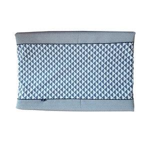 Aankleedkussenhoes Babykamer Wafelstof | driehoek grijs