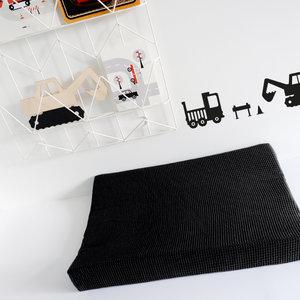 Aankleedkussenhoes Babykamer Wafelstof Basic   zwart
