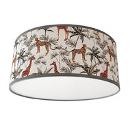Plafondlamp Jungle getekend