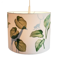 Lamp jungle bladeren silhouet