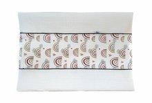 Aankleedhoes Regenboog / Wafelstof wit