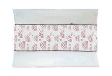 Aankleedhoes Regenboog wit / Wafelstof wit