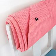 Ledikant deken wafelsto baic koraal roze
