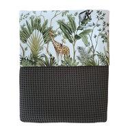 Deken Jungle Monkeys giraf & Olifant Custom made