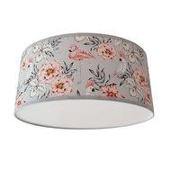 plafondlamp flamingo & papegaai bloemen lichtgrijs