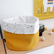 commodemandje confetti wit met wafelstof