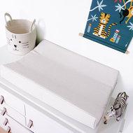 Aankleedkussenhoes Babykamer Wafelstof Basic   wit